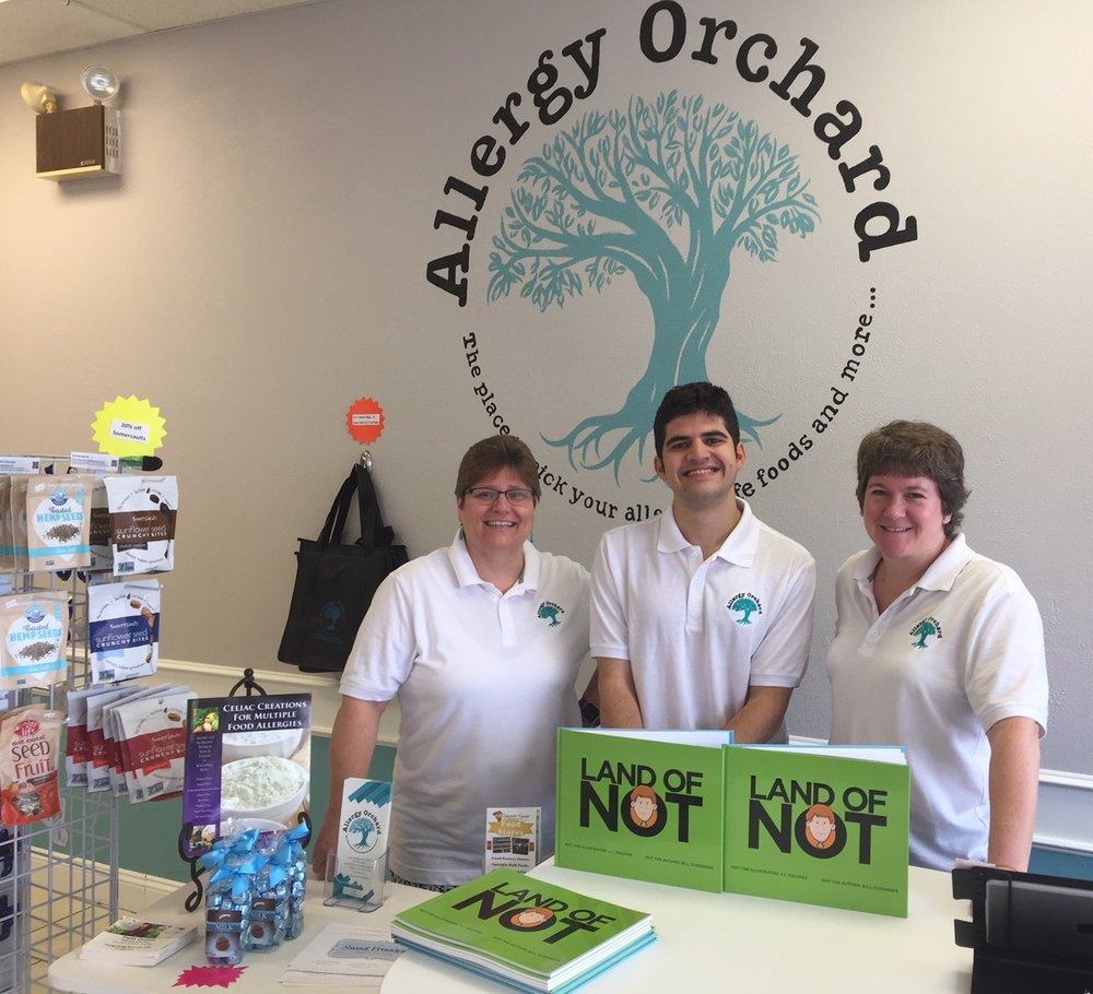 Co-owners Tammy Gingras-Moore and Karen Di Pace opened Allergy Orchard near my hometown in October. They are the first store in world to carry my book!