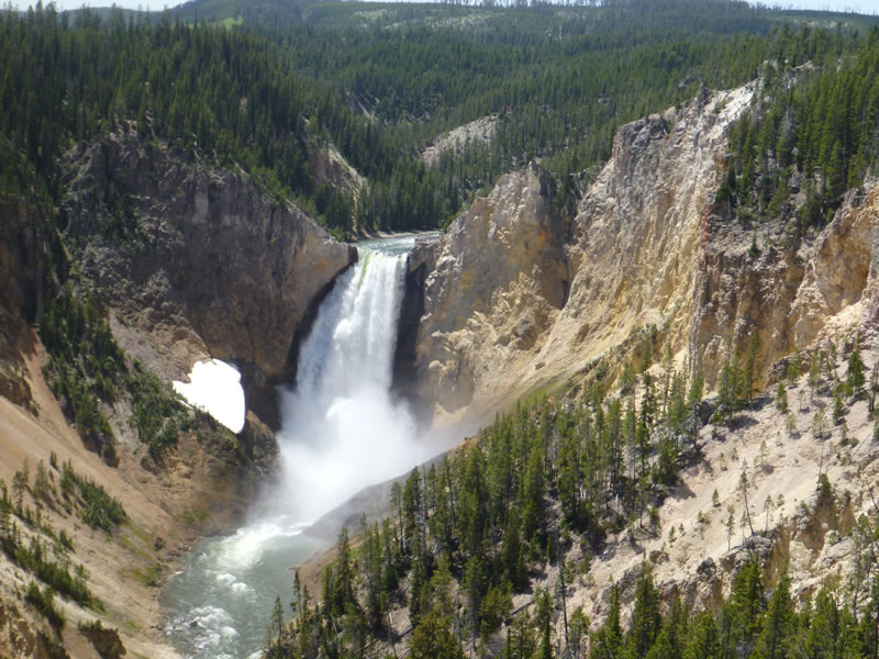 Scenic Yellowstone National Park. -