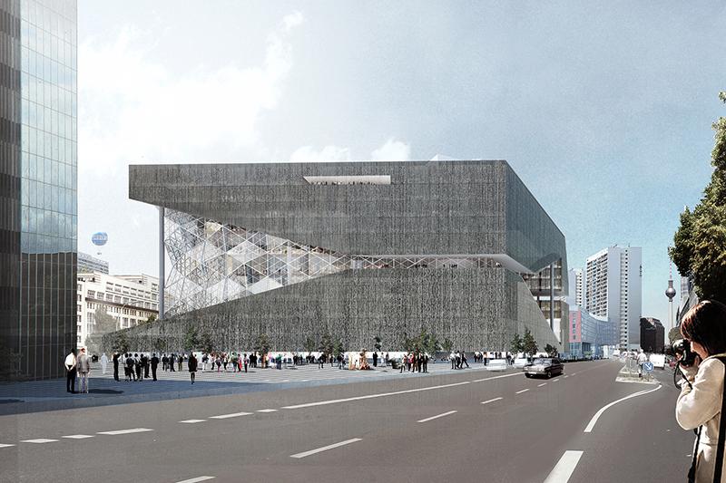 Axel Springer Campus  Der Axel Springer Campus (Rem Koolhaas, 2016–2019) liegt direkt auf dem ehemaligen Mauerstreifen und macht diese Achse zum Grundprinzip seiner Organisation