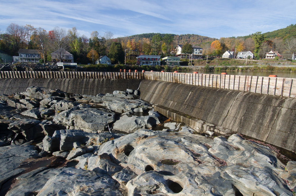 Glacial potholes at Shelbourne Falls