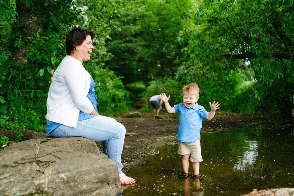 Adventure Family Photography at Clark Lake Park in Kent, Washington