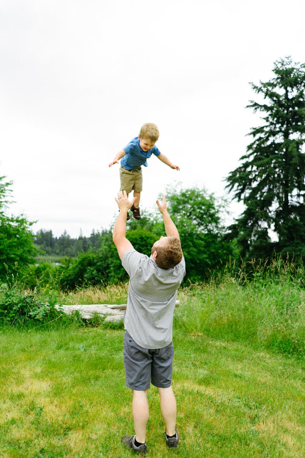 Fun Family Portrait Photographer Near West Seattle