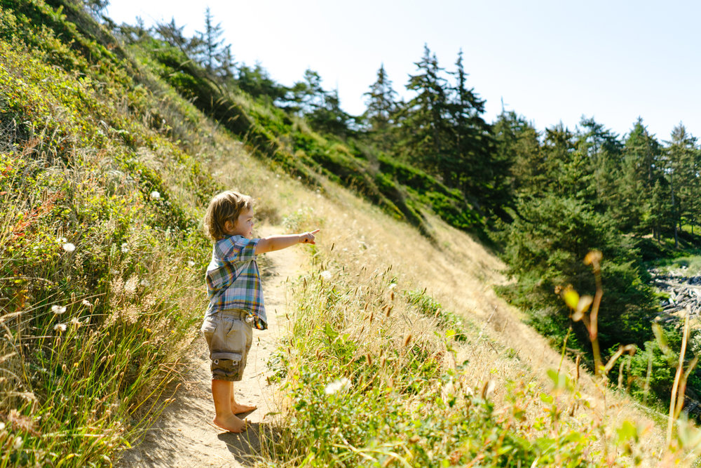 Children's Adventure Portrait Photography at Fort Ebey State Park on Whidbey Island