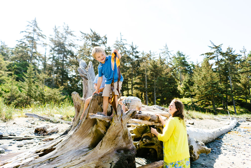 Family Adventure Photography at Fort Ebey State Park on Whidbey Island