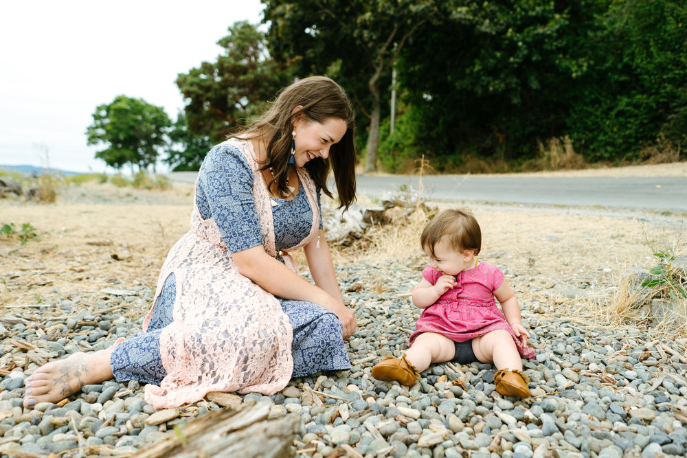 Family Portrait Photography at Lincoln Park in West Seattle