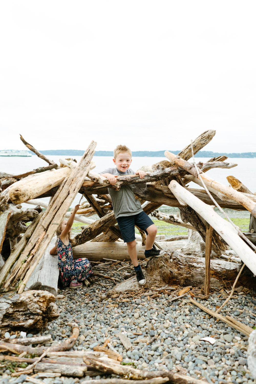 Modern Family Portrait Photography on the Seattle Beach