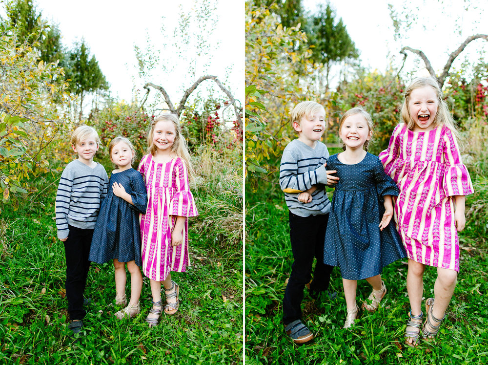 Seattle Area Fall Family Mini Sessions In An Apple Orchard