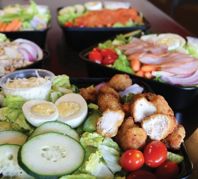 Specialty Salads- Upgrade your salad, add chicken, ham or pepperoni. Order one today!