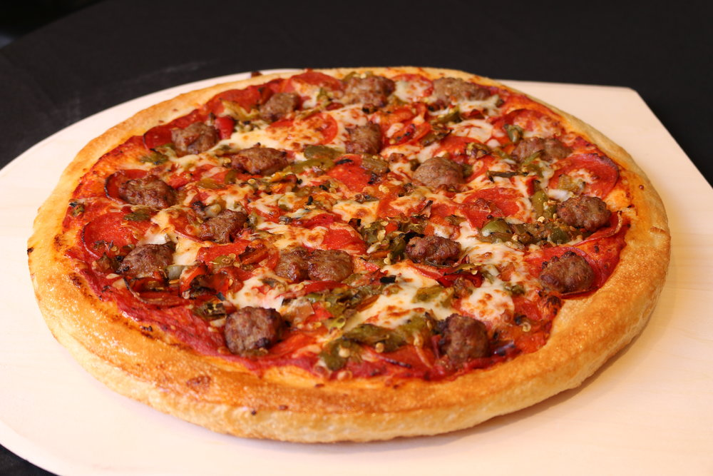 Try one of our deliciously spicy Lobo pizzas. Each mouthful of pepperoni, sausage, and green chile will leave you wanting more!