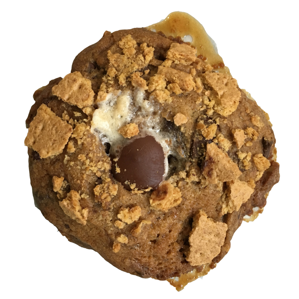 KEITH MOONPIE (campfires & chaos) burnt marshmallow, smashed graham crackers & dark chocolate