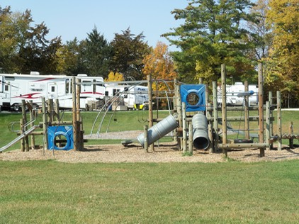 In 2012 - Finally, after a long time coming… we completed a second playground on the campground and enhanced the existing playground with gliding horses. Both areas are a big hit for kids of all ages! We're grateful to hear all the laughter and joy of children playing every day.