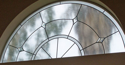 Lead and Bevel transom window