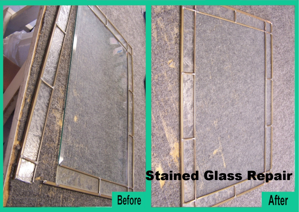 Clear Stained Glass Repair