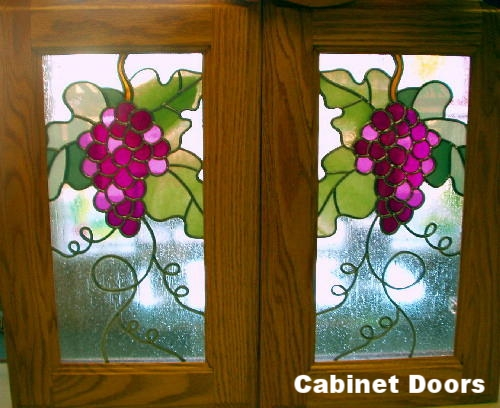 Grape Pattern Stained Glass Overlay