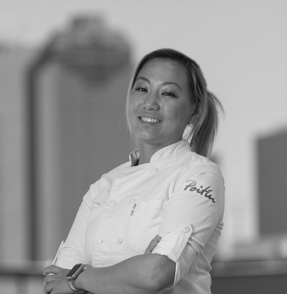 Dory Fung  - Executive Pastry Chef  Dory is a Houston native with a passion for pastry. After cutting her teeth in the kitchen of her family's Cantonese kitchen, eating crab puffs and ringing the bell for ready orders, Dory then trained at Houston Community College where she received her degree in Baking and Pastry. Stints at the Marriot in San Antonio and Houston Country Club as Assistant Pastry Chef were followed by a role as Head Pastry Chef in Yauatcha Houston. Her most recent position was at Aqui in Montrose.