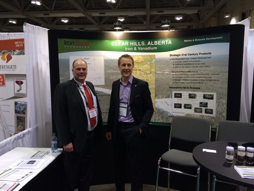 Chris Warkentin, MP visits booth at PDAC