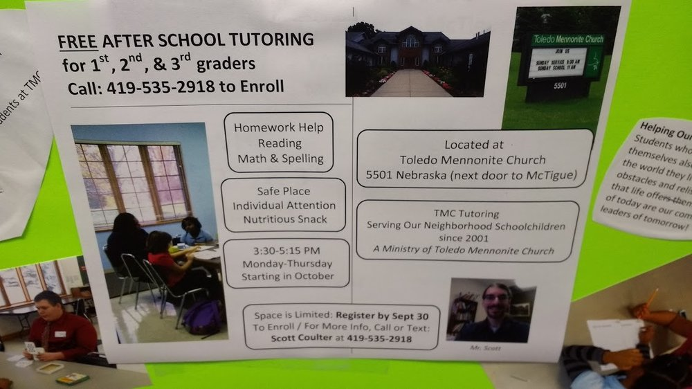 Tmc Tutoring  Toledo Mennonite Church