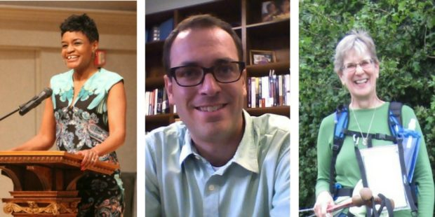 Cyneatha Millsaps, Joel Shenk and Mary Lehman Yoder