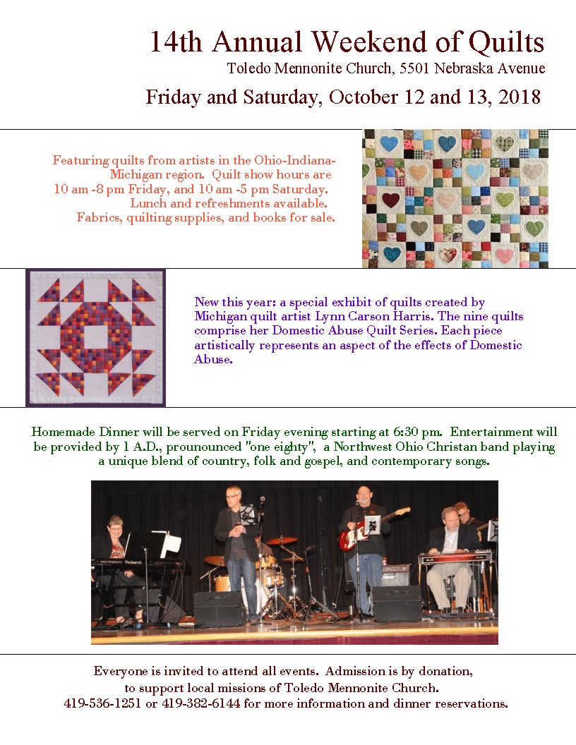 14th Annual Weekend of Quilts — Toledo Mennonite Church
