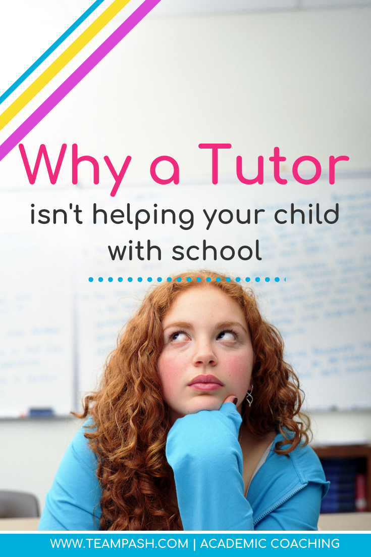 A tutor is often the first step a parent takes when their child struggles at school, but is it the right choice? When should you hire a tutor and when is there a better option?  #parenting #study  Marni Pasch Team Pasch Academic Coaching www.teampasch.com