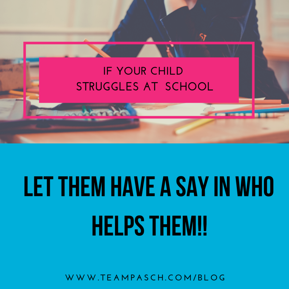 If your child struggles with school, include them in the process of hiring a tutor or coach!  I can't promise the will jump for joy, but I bet you will hear less groans.   Rock on,  Marni Pasch  MA Counselor Ed, ACC