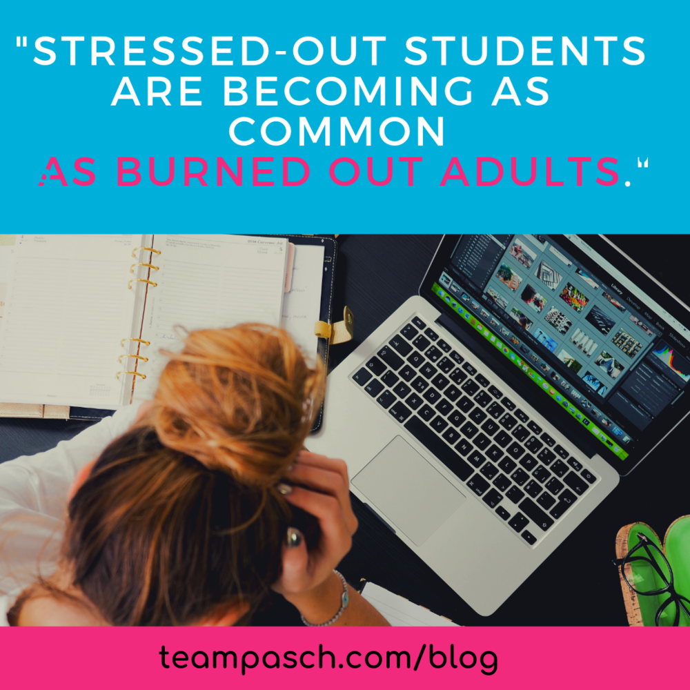 How can we help our children handle stress related to school?  Do you see your child showing signs off stress? What is different from when we were younger?  Checkout this week's blog on student self-care!