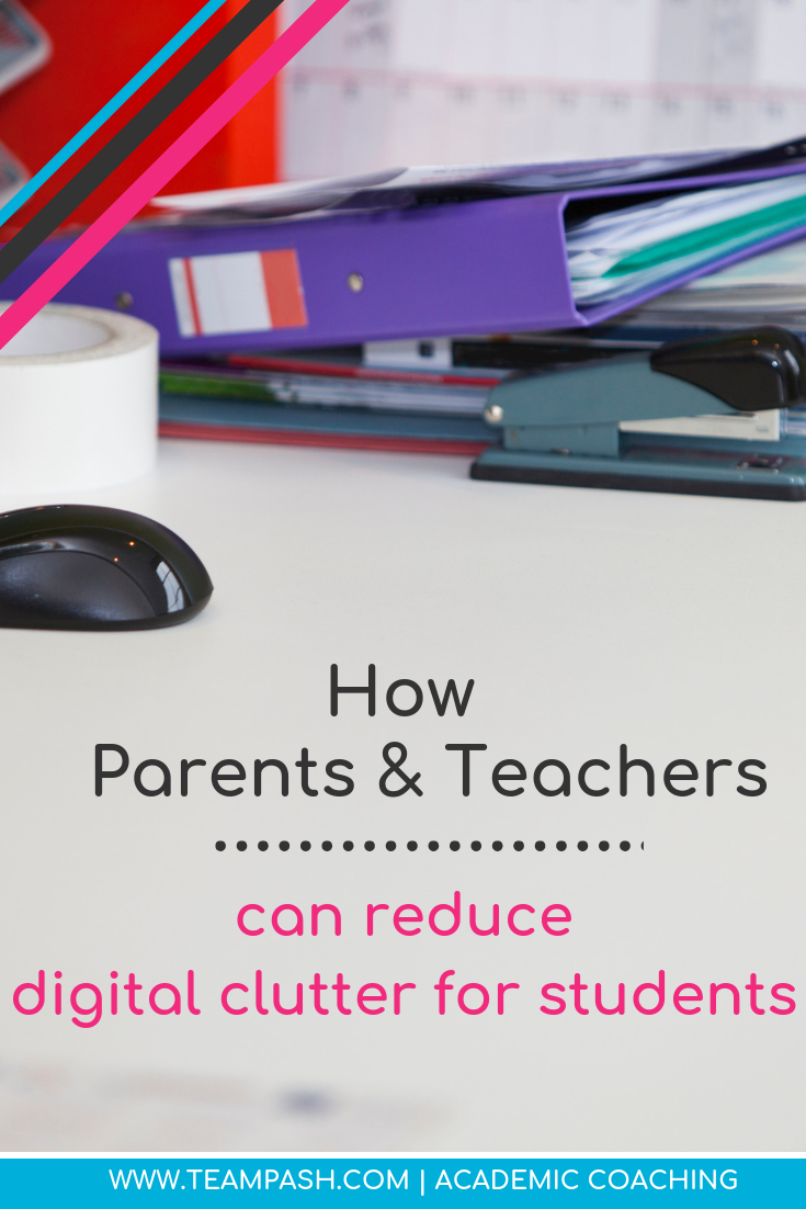 Organization is an important skill for students to learn, so why are we adding to their digital clutter? We look at how teachers and parents can help reduce digital chaos for the teens in their lives.   Marni Pasch -Academic Coach Team- Pasch Academic Coach  Podcast School Counselor Gone Rogue   www.teampasch.com