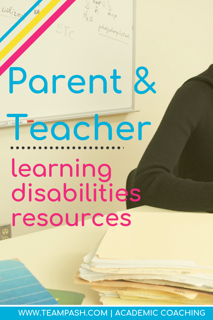 Parents and teachers can advocate for students with learning disabilities through online resources such as CHADD or Understood. Here are resources to help you advocate for your child or student with unique learning needs.  Marni Pasch Academic Coach Team Pasch Academic Coaching www.teampasch.com
