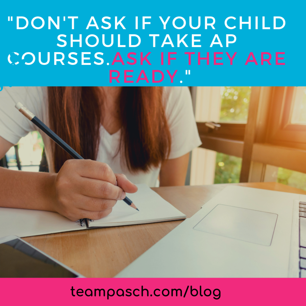 Should your teenager take Advanced Placement courses? This article outlines the questions you should ask before signing up for college level courses. Share this pin with friends who are preparing to select courses for next year!  Checkout the blog about resources for parents and educators to advocate for students who need support!