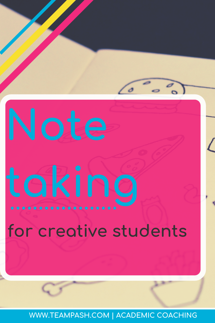 Does your child find note taking boring? Pin this article on how to spark creativity in students with doodle notes. Excellent resource for creative students and teachers.  Marni Pasch Team Pasch Academic Coaching www.teampasch.com