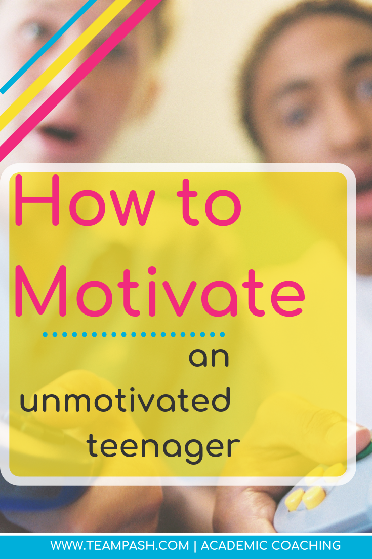 How do we motivate teenagers when they refuse to study? Why is school work so hard? Click here to look at how parents and teachers can rethink motivation.  Marni Pasch Team Pasch Academic Coaching www.teampasch.com