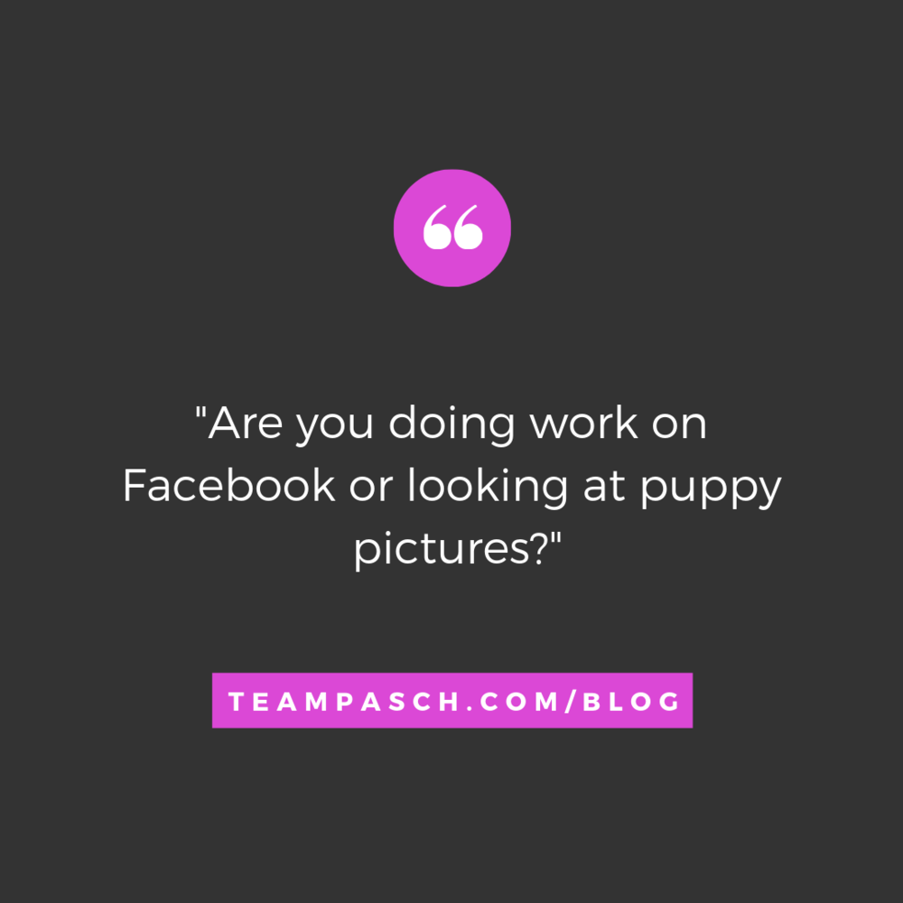 What if there was a way to track this? Oh wait…there is. Get the low down on the best productivity apps for teens.  Don't worry…you can still have time for puppy pictures.  Check out the Team Pasch Academic Coaching blog!