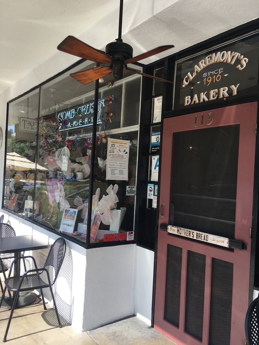 The front of Some Crust, my favorite bakery in the entire universe.