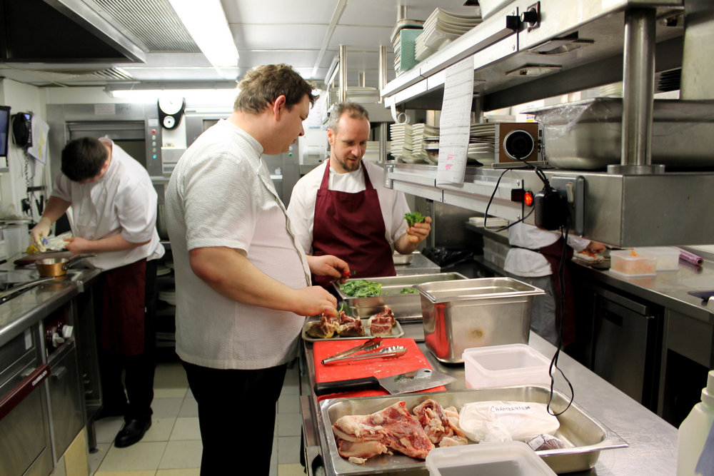 andrew jones with his sous, luca