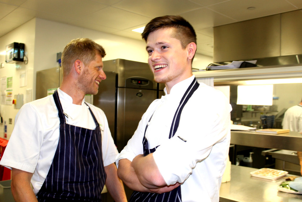 The Stagiaire with hayden groves at the pass