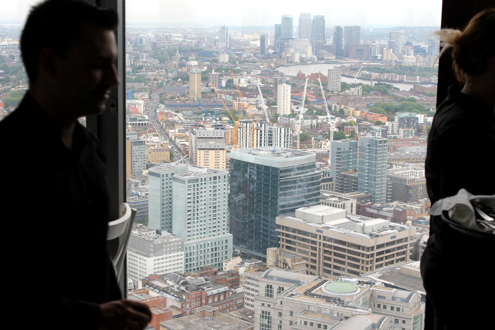 the view at the top of the heron tower
