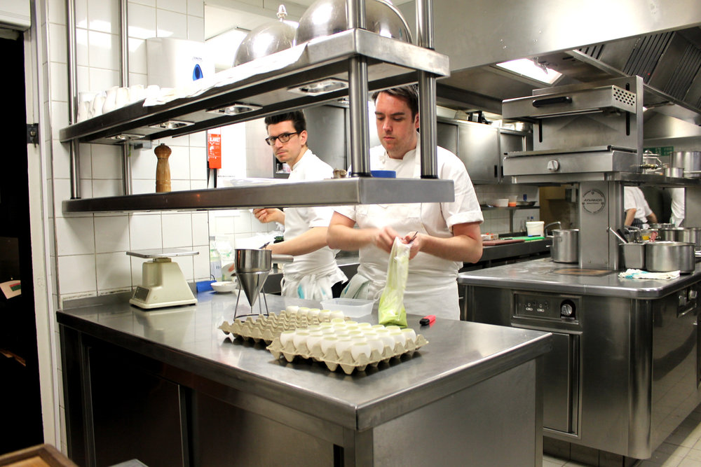 Ian Scaramuzza, the former head chef of Hibiscus, at the pass