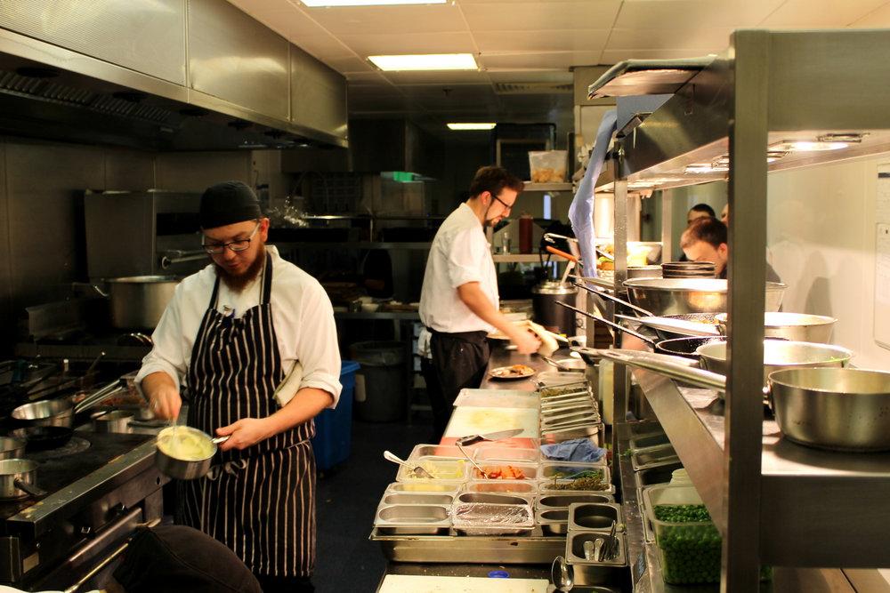 the kitchen at the St Pancras Renaissance