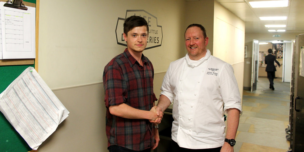 the stagiaire with Allister Bishop, the executive chef of the hotel