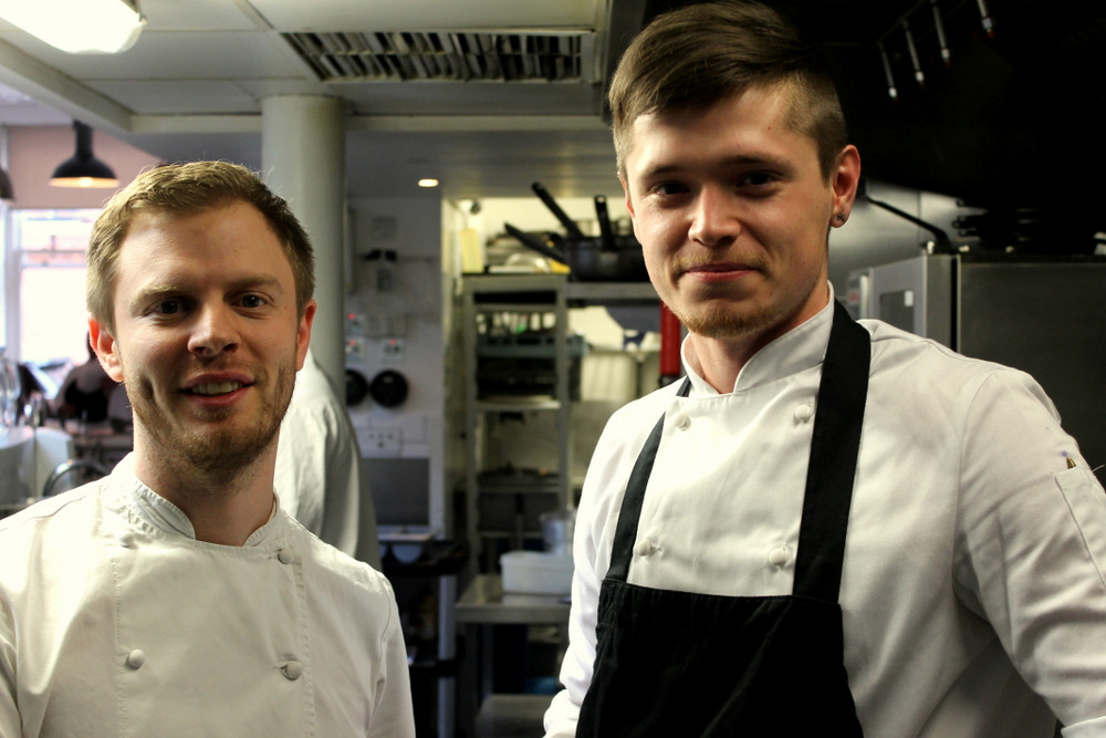 with dean baker, the head chef of tom's kitchen, chelsea
