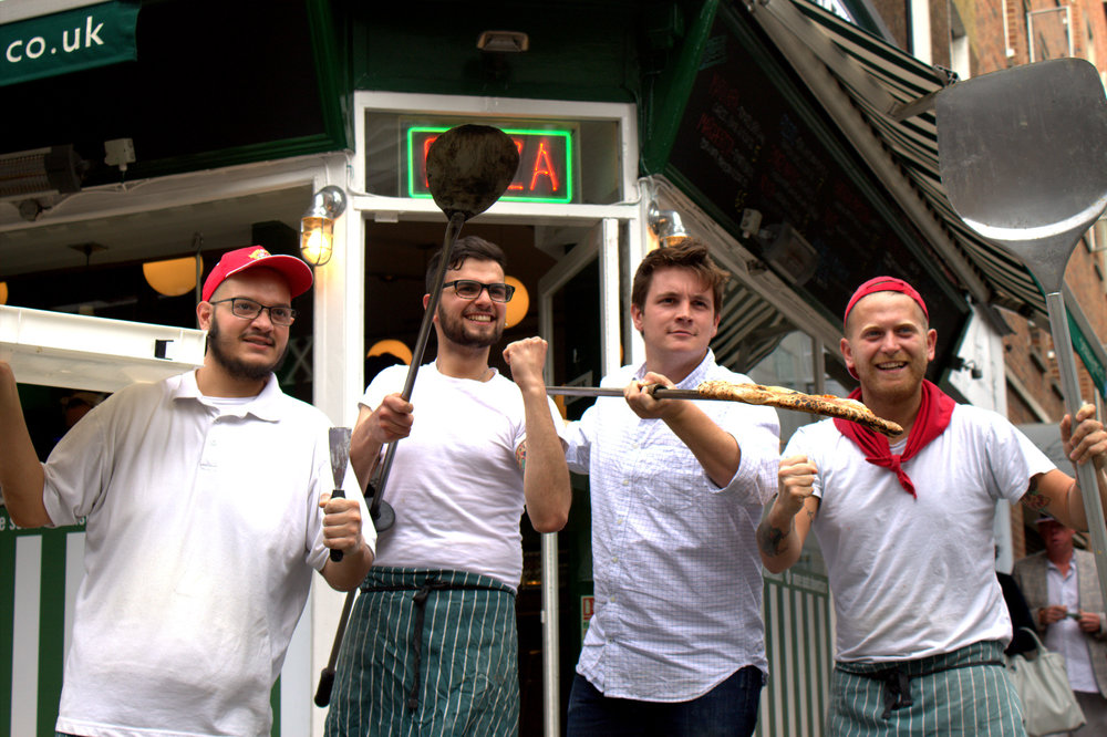 the guys at pizza pilgrims - ready for war!