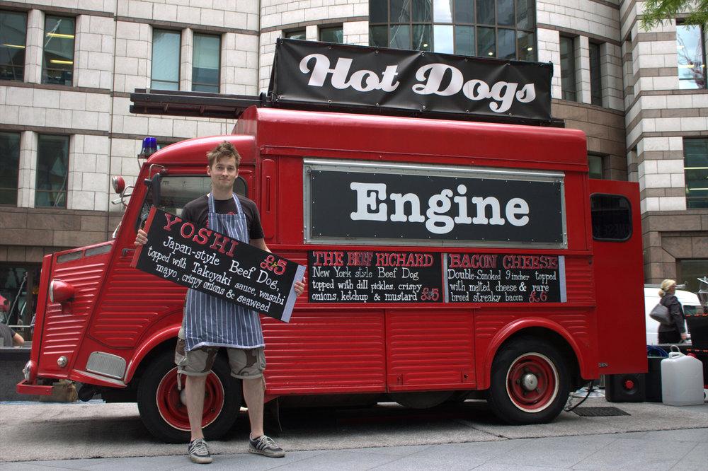 Richard Shanks with engine