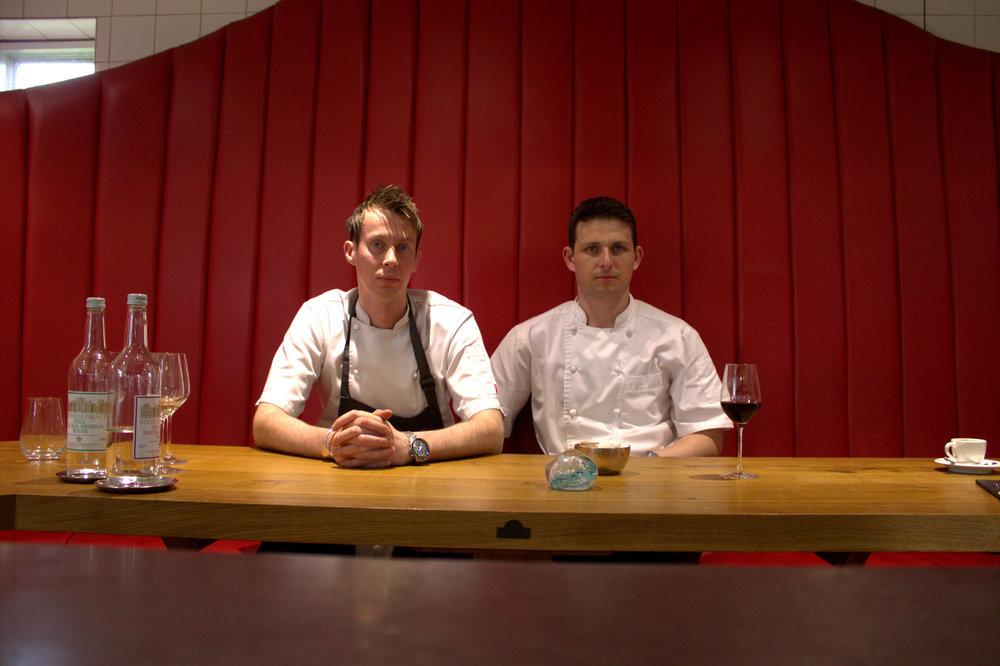 Phil Fanning (right) with his head chef, Paul Lobban