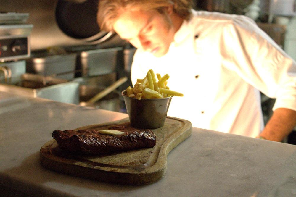 An onglet steak
