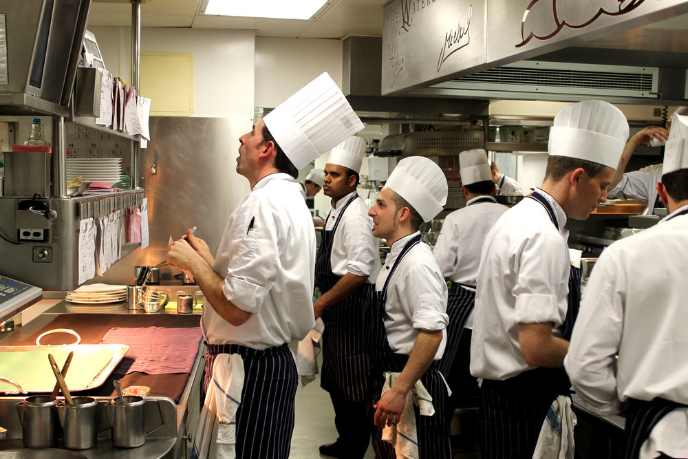 the kitchen at the waterside inn