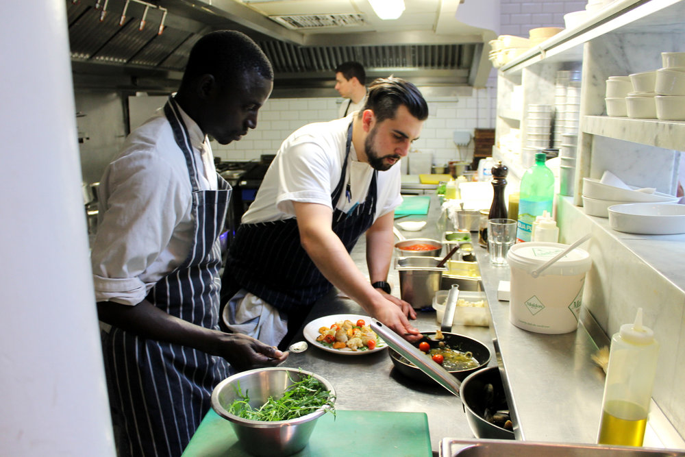 plating at tom's kitchen, chelsea