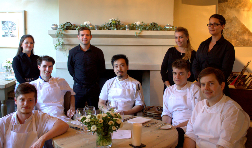 The stagiaire (bottom left) with the team at The dysart