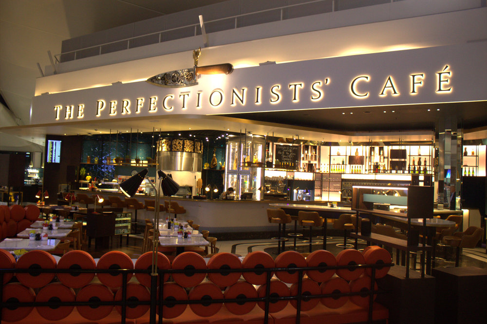 the perfectionists' cafe exterior
