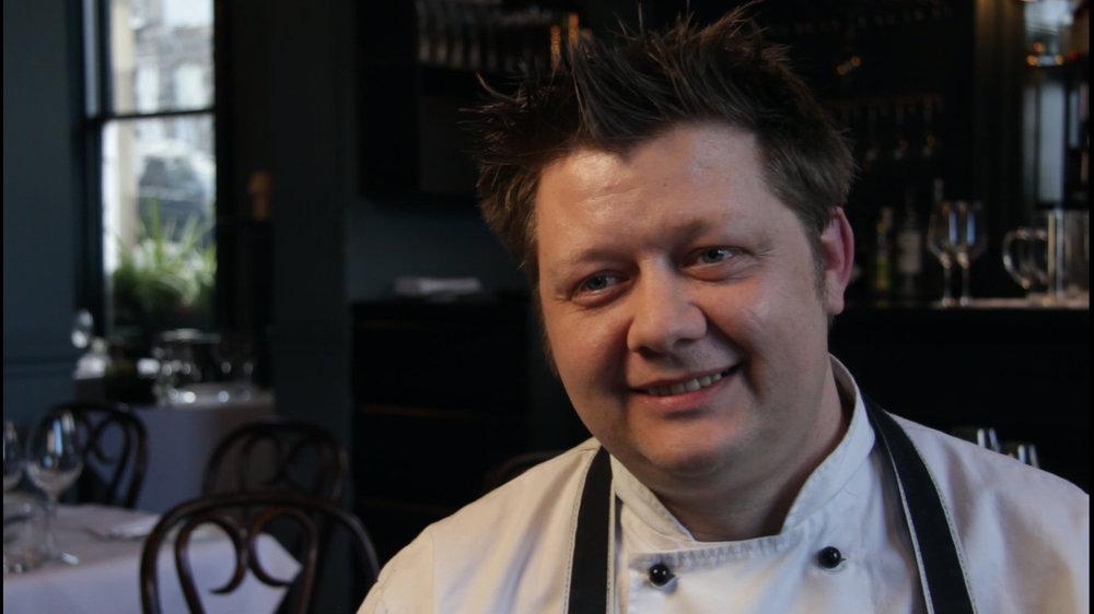 mark greenaway in his eponymous restaurant
