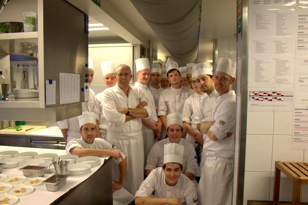 posing with the brigade at hof van cleve in belgium